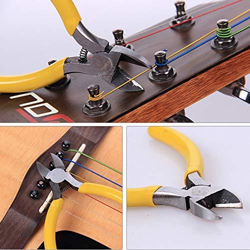 YZNlife Guitar Repair tool Kit -Guitar Maintenance Cleaning Tool Kit Includes String Organizer & String Action Ruler & Gauge Measuring Tool & Hex Wrench Set & Files for Guitar Ukulele Bass Mandolin Ba