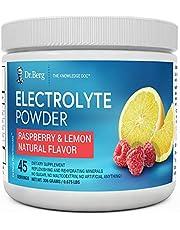 Dr. Berg's Original Electrolyte Powder - Hydration Drink Mix Supplement - Boosts Energy & Keto-Friendly - NO Maltodextrin & Sugar-Free - No Ingredients from China - Raspberry Lemon Flavor 45 Servings