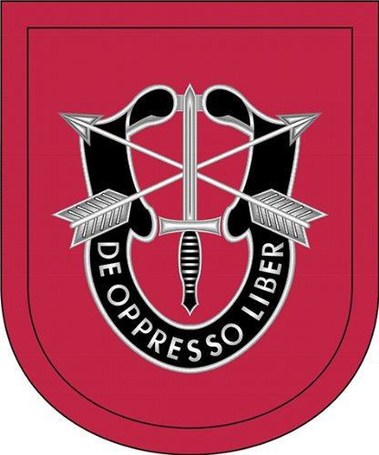 Military Vet Shop US Army 7th Special Forces Group Flash Window Bumper Sticker Decal 3.8