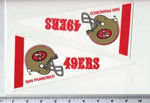 2 Pack San Francisco 49ers Mini Pennants Throwback Old Logo Vintage 1990s (49ers Pennant Throwback Francisco San)