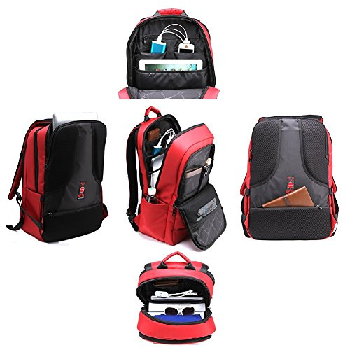 f50dfa1eb105 Kopack Deluxe Black Waterproof Laptop backpack 15.6 17 Inch Travel Gear Bag  business trip computer daypack double laptop compartment Luggage Bags  Business ...