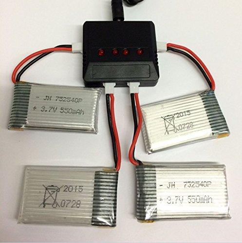 Usb Charger 1 To 4 for 4 Battery Syma X5c X5sc X5a H5c Lipo 3 7V 500 Mah 25c Rc