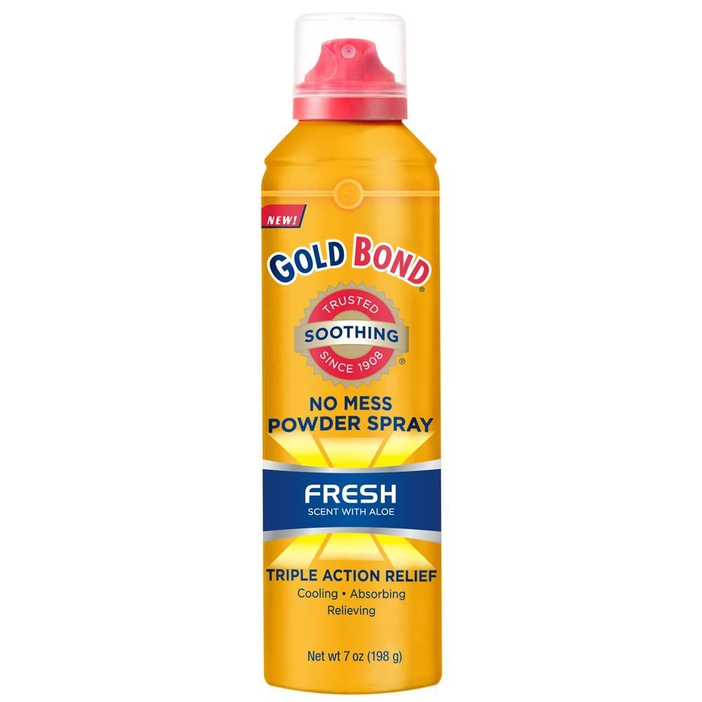 Gold Bond Medium No Mess Powder Spray 7 oz. Fresh (Pack of 4)