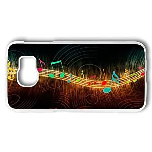 Samsung Galaxy S6 Case, Music In Color PC Case Cover for Samsung Galaxy S6 White Hard Plastic Case hjbrhga1544