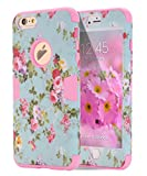 iPhone 6s Plus case, iPhone 6 Plus case Flower, TOPSKY [Love Flower Series] Three Layer Heavy Duty High Impact Resistant Hybrid Protective Cover Case For iPhone 6/6s Plus (Only For 5.5