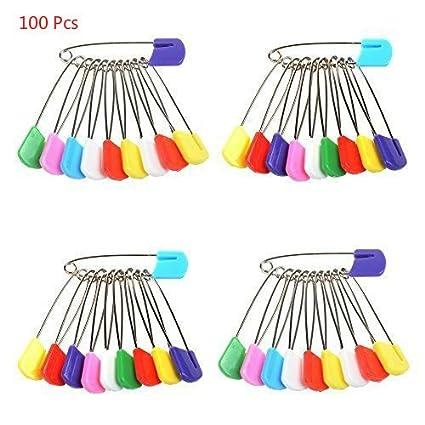 Yosoo Pack de 50/100 unidades, color baby de plástico Head pañales de tela