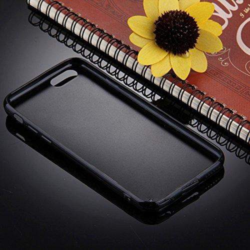 GHC Cases & Covers, Für iPhone 6 & 6s Schwarzer Hintergrund Glitter Powder Herz Muster TPU Stoßfänger Schützender harter rückseitiger Abdeckungs-Fall