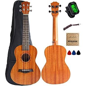 2 Pcs Ebony Ukulele Nut 35mm Top Nut For 4 String Ukulele Guitar 10mm Space