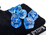 Transparent Blue 4 Layer Dice Set | 7 Piece | PRISTINE Edition | FREE Carrying Bag | Hand Checked Quality