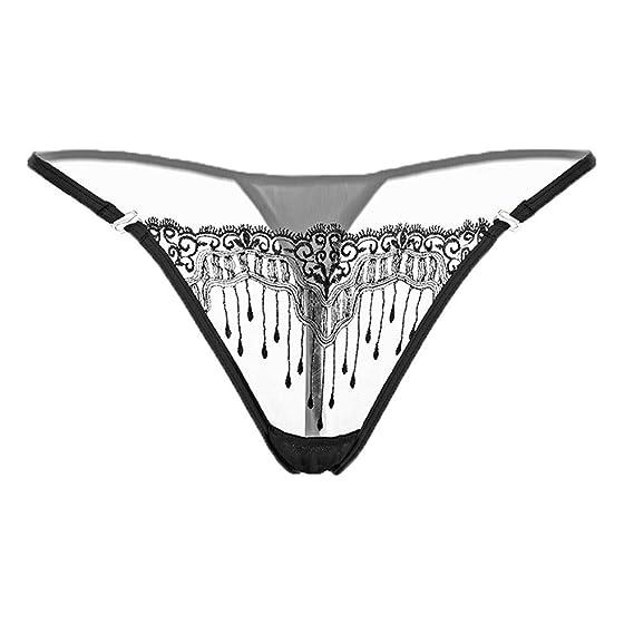 c76d2e4eb005 Lenceria Erotica Mujer, Ropa Interior Sexy Elástico de Encaje Floral ...