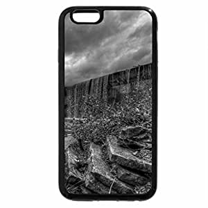 iPhone 6S Case, iPhone 6 Case (Black & White) - falls over a dam hdr