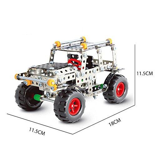 IRON COMMANDER Model Car Kits to Build Metal Erector Sets Boys Model Cars Adults Model Car Off-Road Erector Set (816B-48)