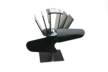 Free delivery and returns on eligible orders. Buy Heat Powered Wood Burning Stove Fireplace Fan - Black Blades - Round Wood Trading Model - Eco Friendly Heating at Amazon UK.