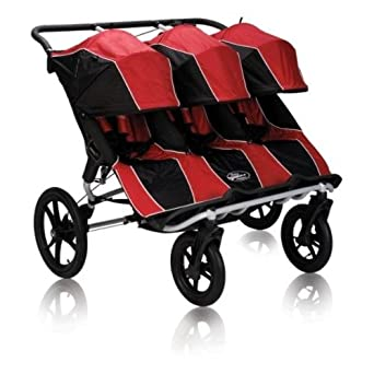 Amazon.com : Baby Jogger Summit XC Triple Stroller, Red/Black ...