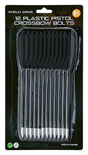 Anglo Arms - Juego de 12 flechas de plástico de 16,5 cm para ballesta