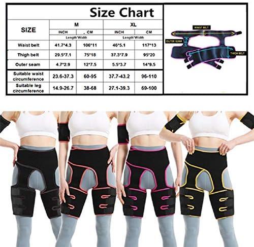 Waist and Thigh Trimmer for Women Weight Loss Sweat Band Waist Trainer Butt Lifter Neoprene Hip Shapewear Enhancer 6