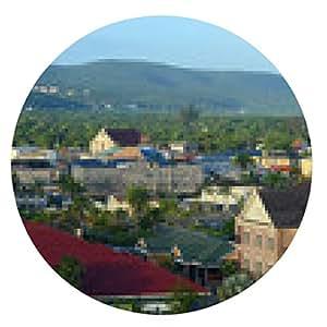alfombrilla de ratón Palacio de justicia de Falmouth y la Iglesia, Jamaica - ronda - 20cm