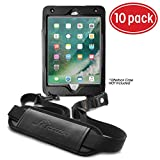 rooCASE 10-Pack Utility Sleeve Case with Breakaway Safety Carrying Strap for OtterBox Defender iPad Mini 4 Series, Black
