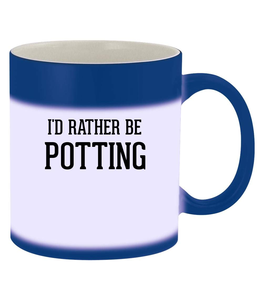 I'd Rather Be POTTING - 11oz Magic Color Changing Mug, Blue