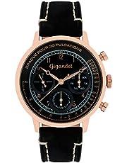 Gigandet G45-005 - Reloj para Hombres, Correa de Cuero Color Negro
