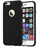 SuperdealsForTheinfinity® Heat Dissipation Hollow Thin Soft TPU Back Case Cover for Apple Iphone 6 6S - Black