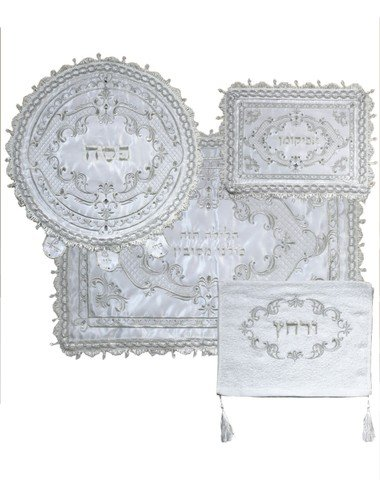 A&M Judaica 63193 Pasech Afikoman & Pillow Covers with Towel44; 4 Piece by A & M Judaica