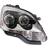 Headlight Assembly Compatible with 2008-2012 GMC Acadia Halogen 2nd Design Passenger Side