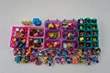 Bins & Things Stackable Storage Container for Shopkins Littlest Pet Shop Rainbow Loom Beads Disney Tsum Tsum Figures and Arts & Crafts Accessories with 30 Adjustable Compartments, Pink