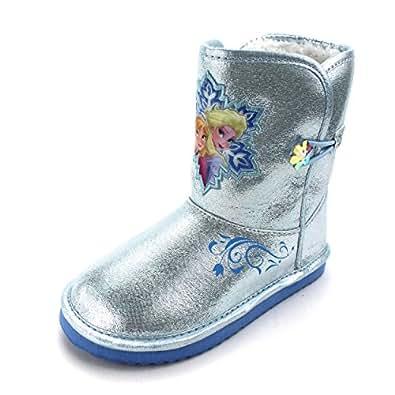 Amazon.com | Frozen Girls Faux Fur Lined Winter Boots