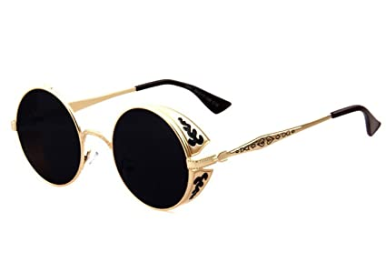 f46f1ab67b2 Image Unavailable. Image not available for. Color  TELAM Retro Round  Sunglasses ...