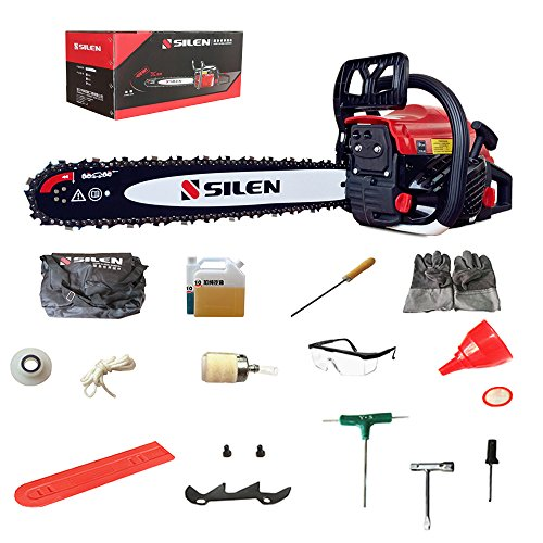 Gas Powered Chain Saw 20-Inch 54.6cc 2-Cycle 3.2HP by SILEN