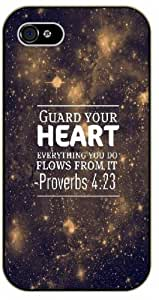 Guard your heart, everything you do flows from it - Proverbs 4:23 - Bible verse IPHONE 5C black plastic case / Christian Verses