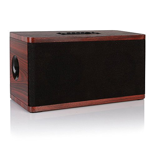 Wooden Bluetooth Speaker: Retro Wireless Portable Stereo Sound System Super Bass Rechargeable Battery HD Audio Quality MP3 Player 3.5mm Audio Aux Input USB microSD TF SD Card Bluetooth 4.0 Home Office