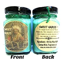 6oz Sweet Grass - Victorian Square Glass Jar Soy Candle - Made with Essential Oil Sophisticated and Timeless