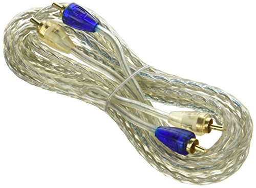 Scosche ERCA9 9-Feet Twisted Pair HEX Audio Cable (Clear)