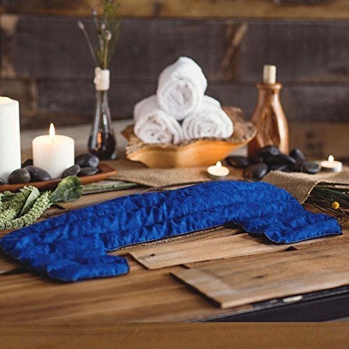 Blue Kozy Collar Microwave Scented Hot/cold Shoulder Wrap