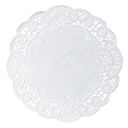 6 inch Variety Pack 150 pc. Paper Lace Doilies - Cambridge Royal French - 50 of Each by The Baker Celebrations (Image #1)
