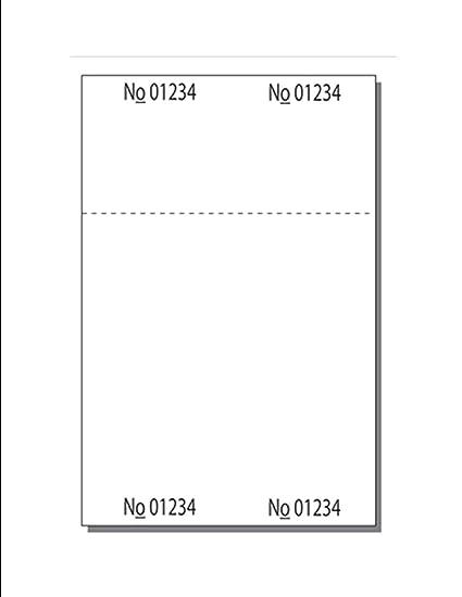 """Listo para imprimir en blanco billete hojas, 4 – 1/4 """"x"""