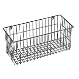 Large 4 Sided Wall Mount Wire Basket in Chrome Metal