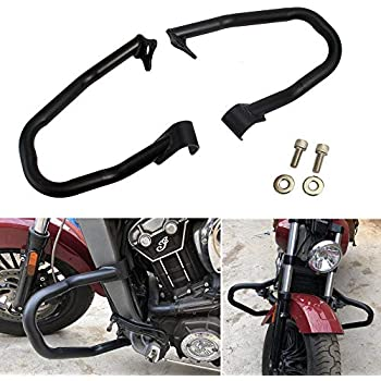 HTTMT US-TGHD-IEG02-CD2 Compatible With Indian Scout 2015-2018 Engine Guard Highway Crash Bar Protection Kit 1 Pair