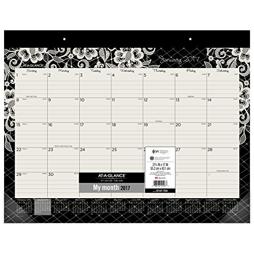 AT-A-GLANCE Desk Pad Calendar 2017