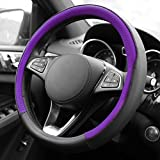 2002 avalon toyota steering wheel - FH Group FH2009PURPLE Geometric Chic Genuine Leather Steering Wheel Cover, 1 Pack
