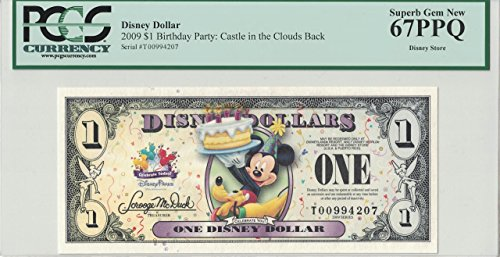 - Disney Dollar 2009 $1 Mickey Pluto T00994207 PCGS 67 PPQ Superb Gem New