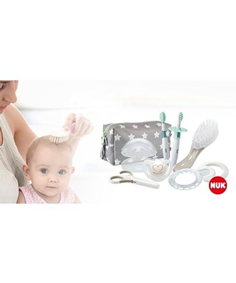 NUK 10256412 Welcome Set Perfekte Erstausstattung Fur Neugeborene Sieben Produkte In Einer Schonen Tasche Weiss Grau Mint Neutral Amazonde Baby