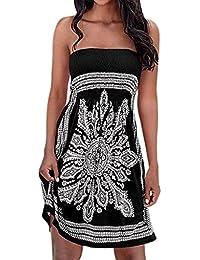 Women's Summer Dress Coverup Dress Strapless Floral Print...