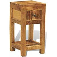 Festnight Solid Wood Display Side End Table Nightstand with 1 Drawer