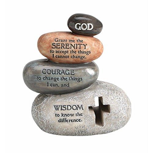 "Enesco Legacy of Love by Gregg Gift Stacked Serenity Prayer Stones Stone Resin Figurine, 5.5"" ()"