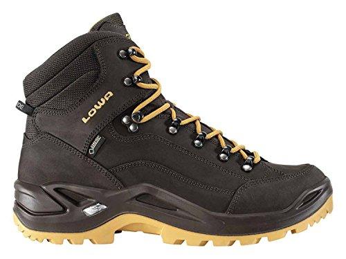 Lowa Renegade GTX Mid, Stivali da Escursionismo Uomo Marrone (Schiefer/Caramel)