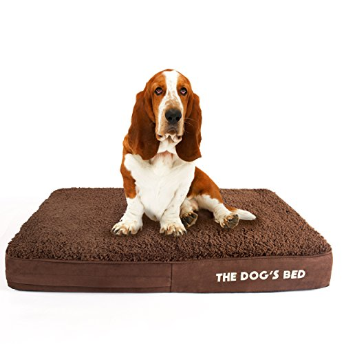 The Dog's Bed, Premium Plush Orthopedic Waterproof Memory Foam Dog Beds, 5 Sizes/7 Colors: Eases Pet Arthritis, Hip Dysplasia & Post Op Pain, Quality Therapeutic & Supportive Bed, Washable Covers by The Dog's Balls