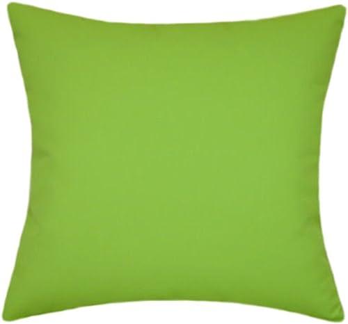 Sunbrella Macaw Indoor/Outdoor Solid Patio Pillow 16×16